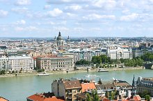 Over the Danube river view
