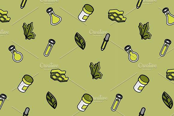 Biology Color Outline Pattern
