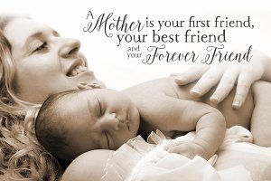 Mother Friend Quote Word Overlay