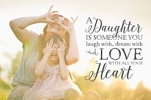 Mother Daughter Quote Text Overlay