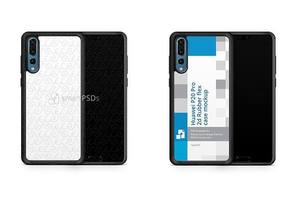 Huawei P20 Pro 2d RubberFlex Case