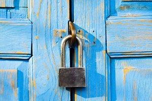 Blue door locked
