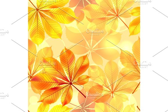 Autumn Seamless Background With Leaves Vector Illustration