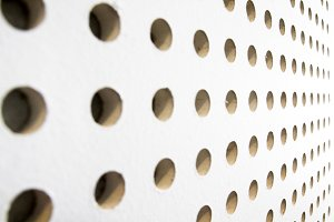 texture of dot on soundproof wall