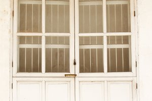 Vintage white door