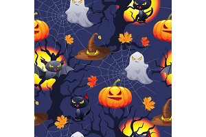 Vector Halloween background.