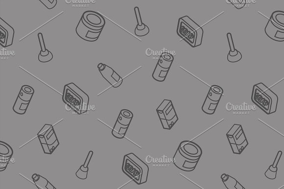 Cleaning Outline Isometric Pattern
