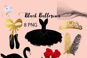Black Ballerina Clipart