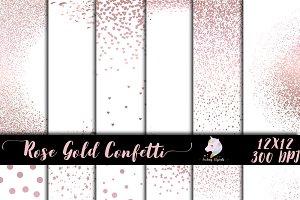 Rose Gold Confetti Overlay