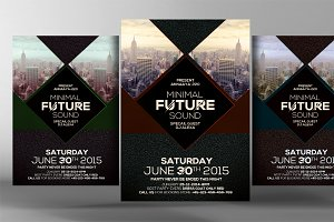 Minimal Future Sound Party Flyer