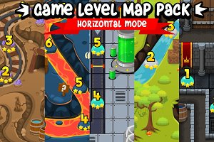 Game Level Map Pack - Horizontal