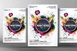 Minimal Winter Party Flyer