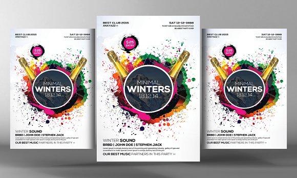 Minimal Winter Party Flyer