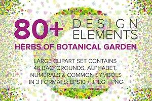 Botanical Garden Font & Backgrounds