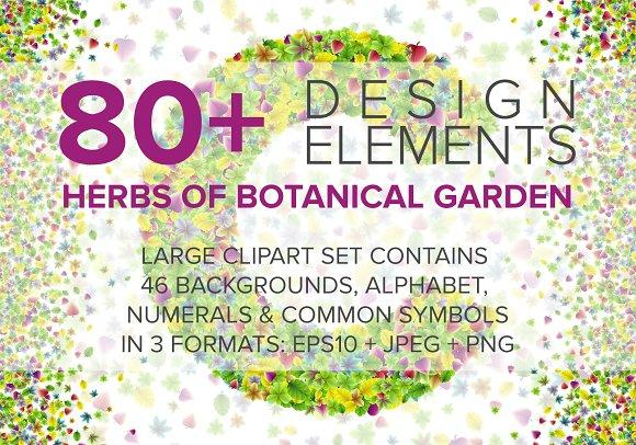 Botanical Garden Font Backgrounds