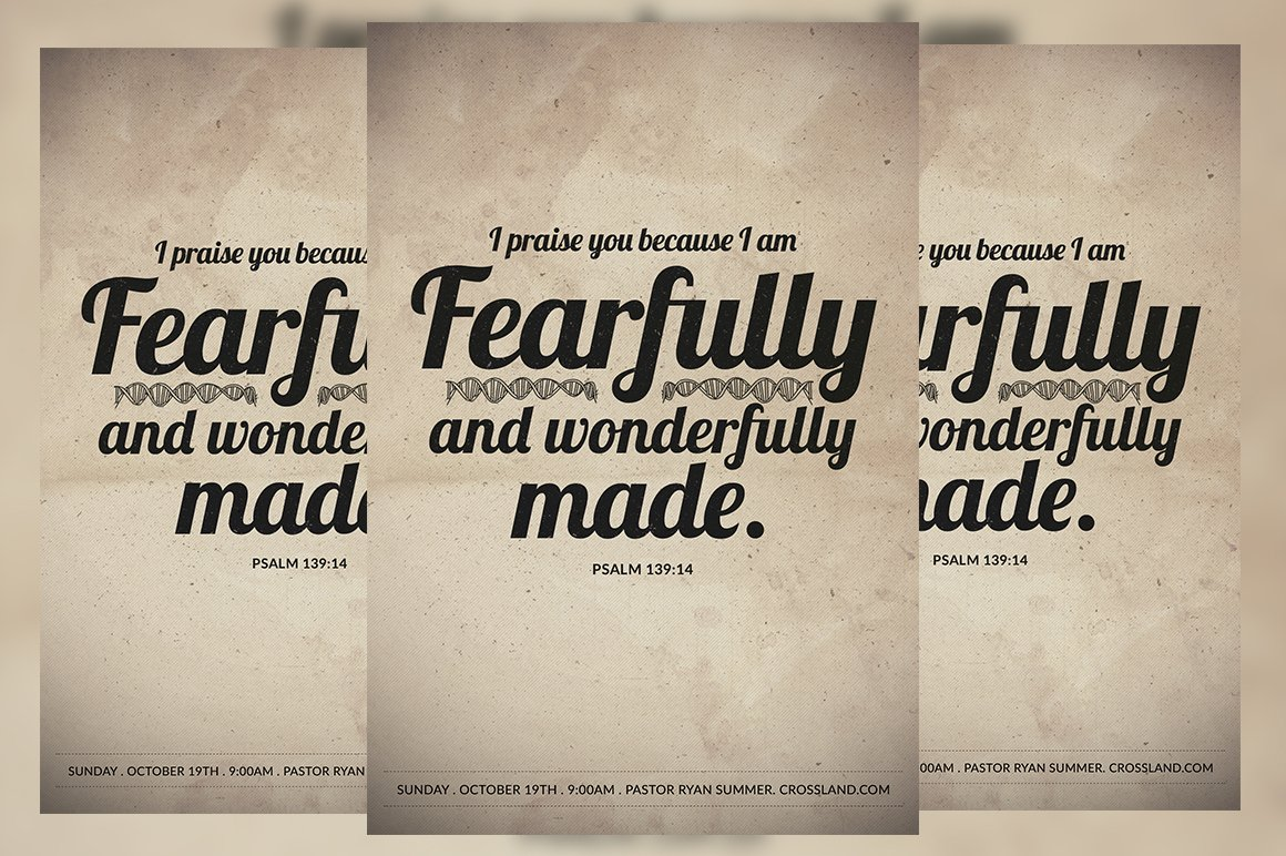 fearfully and wonderfully made flyer flyer templates