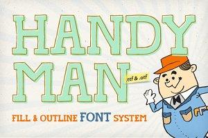 Handyman Font + Outline