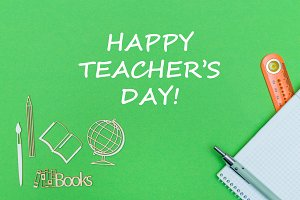 happy teacher's day on green board