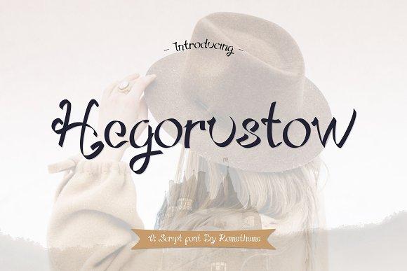 Hegorustow Font