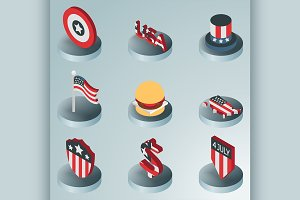 Independence day icons