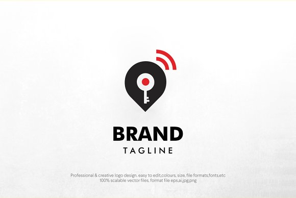 key location logo template in Logo Templates