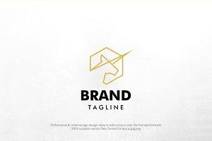 pegasus lineart logo template