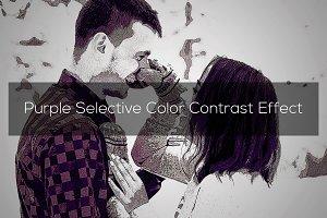 Purple Selective Color Effect