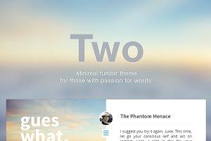 Two - Premium Tumblr Theme