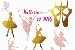 Ballerina Silhouettes Clipart