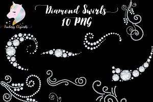 Diamond Swirls Clipart