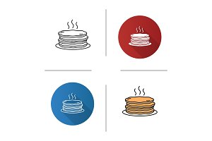 Pancakes stack icon
