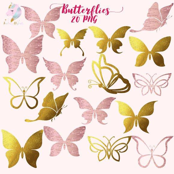 Butterflies Silhouette Clipart
