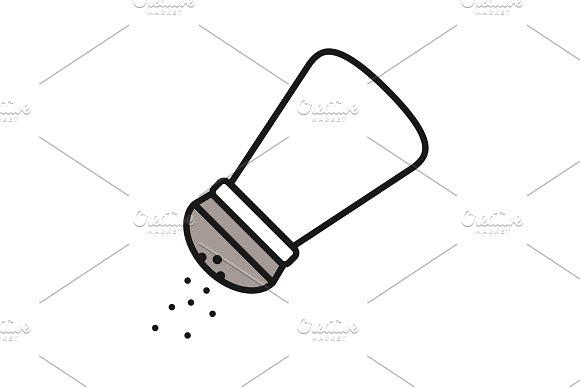 Salt Or Pepper Shaker Color Icon