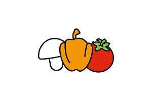 Vegetables color icon