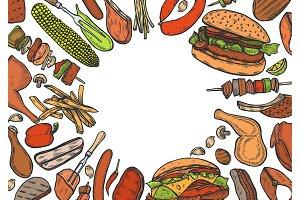 Grill menu design template.
