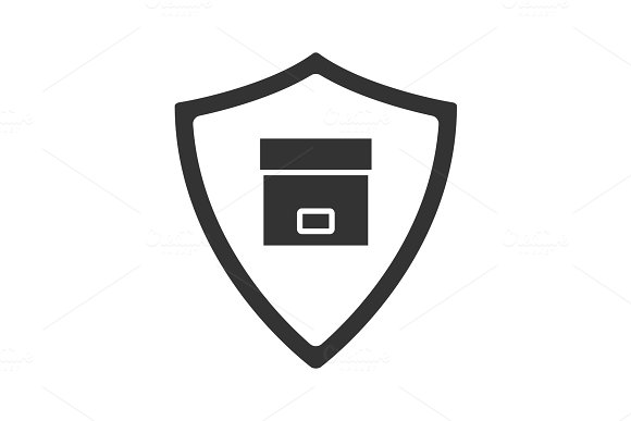 Secure Delivery Glyph Icon