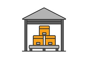 Warehouse color icon