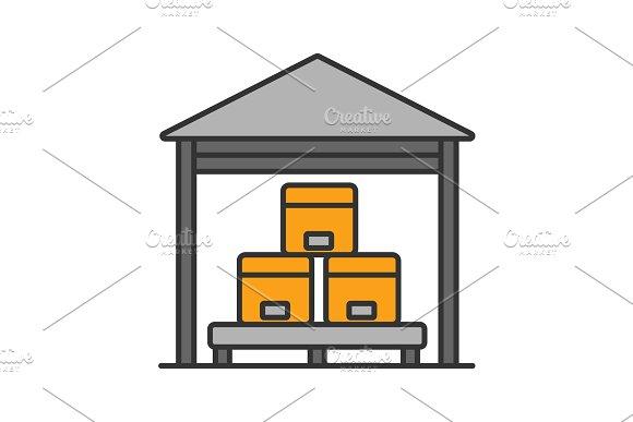 Warehouse Color Icon