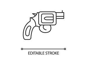 Revolver linear icon