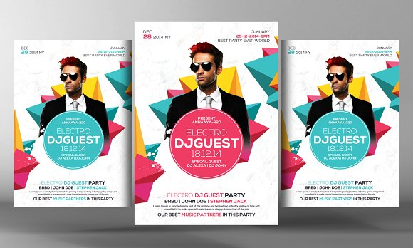 Guest Dj Party Flyer Template in Flyer Templates