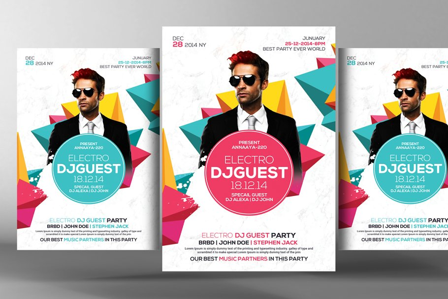 Guest Dj Party Flyer Template in Flyer Templates - product preview 8