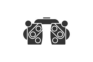 Phoropter glyph icon