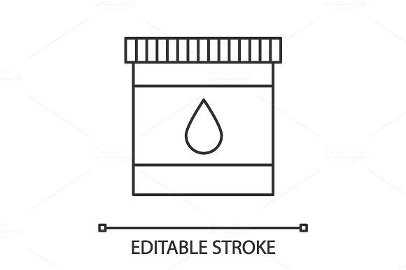 Printer Cartridge Ink Linear Icon