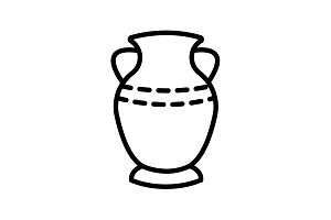 Web line icon. Vase. black on white
