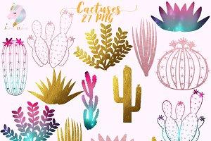 Cactuses & Succulents Clipart
