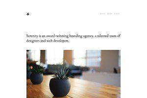Serenity - One Page Template