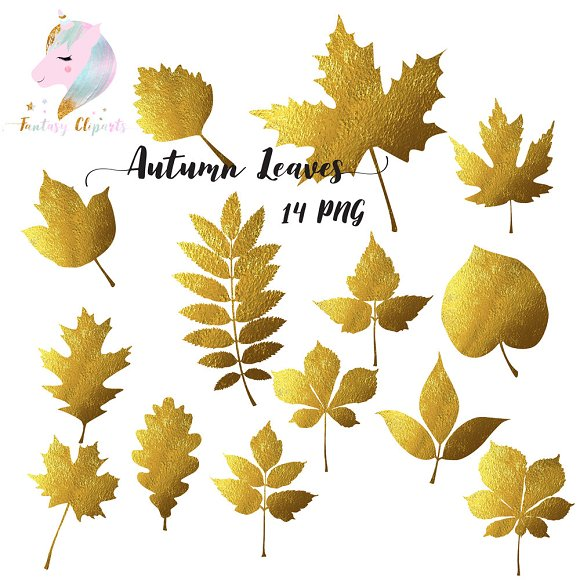 Autumn Leaves Silhouettes Clipart