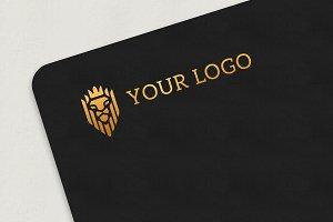 Gold Logo MockUp Ver. 4