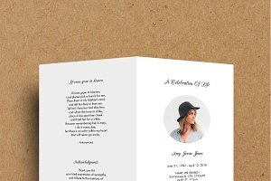 Funeral Program Template - LightGrey