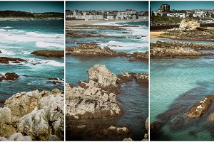 Collage nature, waves breaking